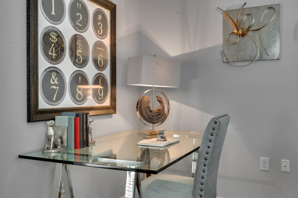 Model in-home office area at Palms at World Gateway in Orlando, Florida