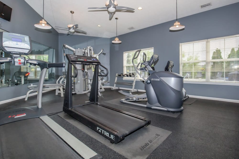 Fitness center at Echo Ridge Apartments in Indianapolis, Indiana.