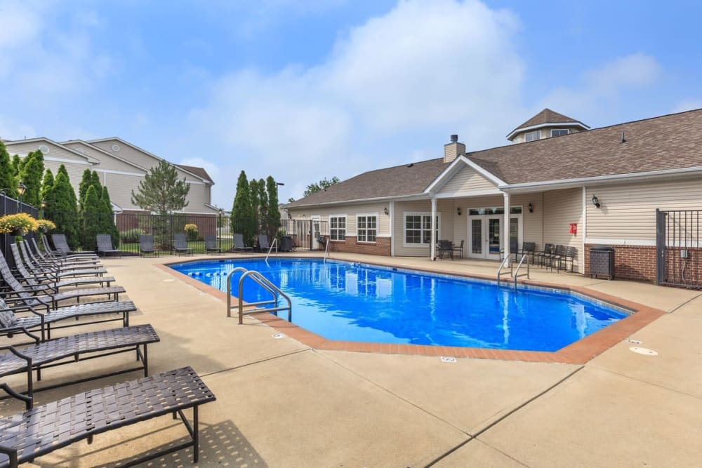 Sparkling swimming pool at Echo Ridge Apartments in Indianapolis, Indiana