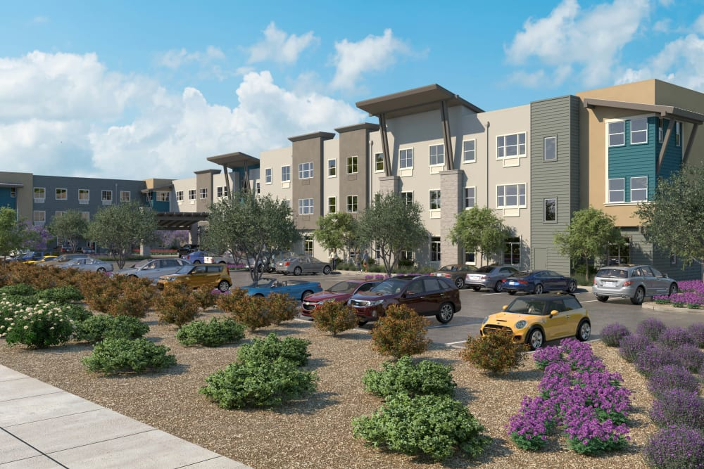 Exterior rendering of our community at WellQuest of Elk Grove in Elk Grove, California
