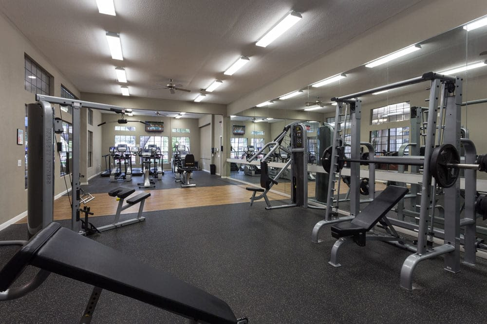 Fitness center at Greenbriar Park in Houston, Texas