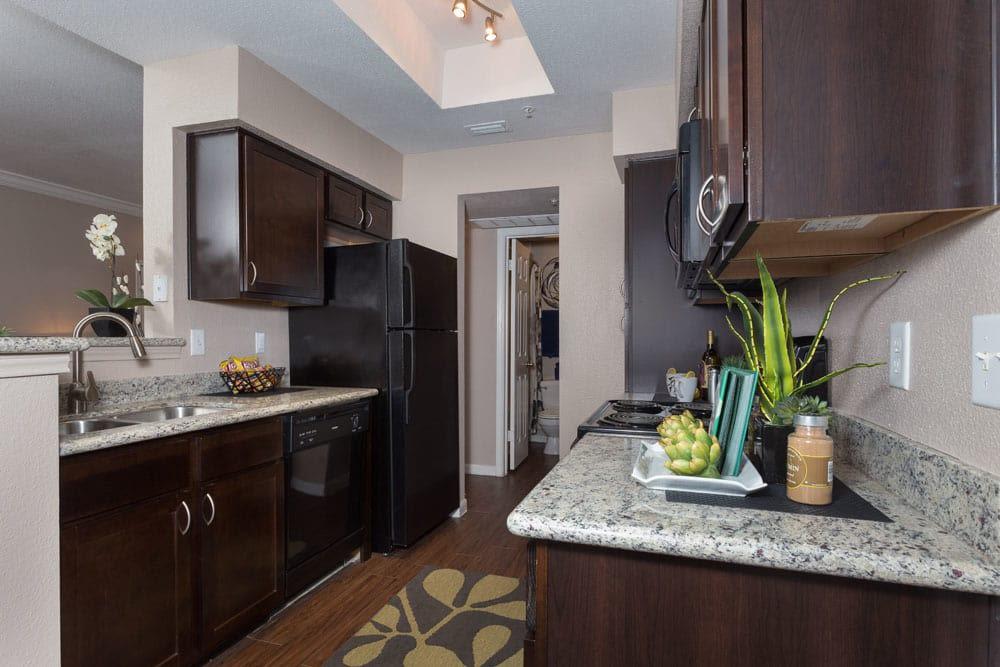 Modern kitchen at Greenbriar Park in Houston, Texas