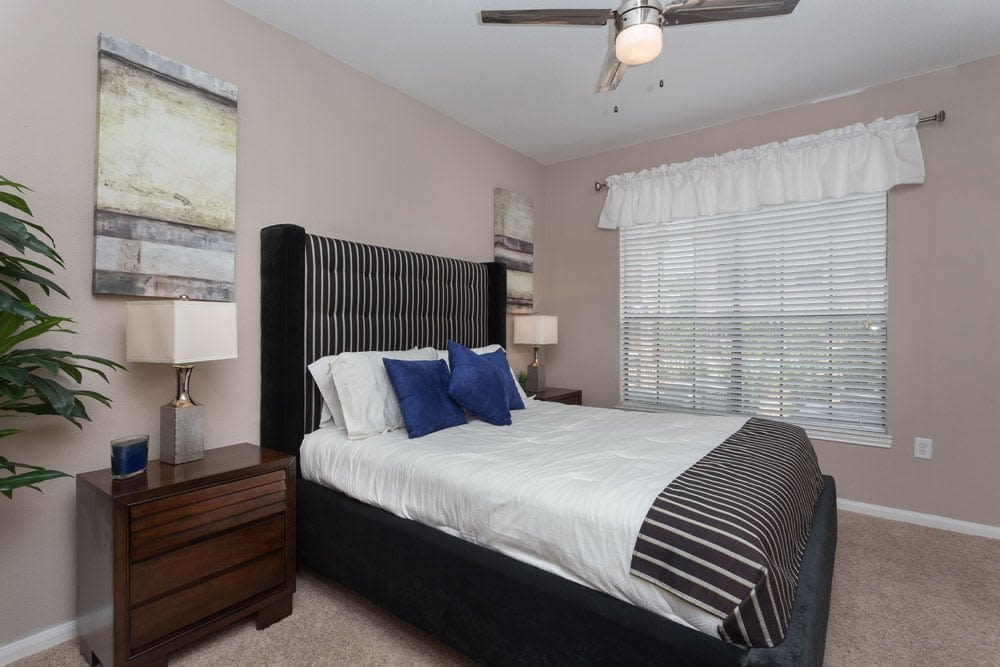 Spacious bedroom at Greenbriar Park in Houston, Texas
