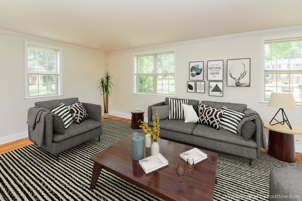 The Villas at Bryn Mawr Apartment Homes offers a Living Room in Bryn Mawr, Pennsylvania