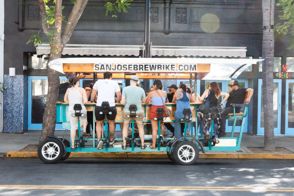 Get out and enjoy a tram ride in downtown San Jose
