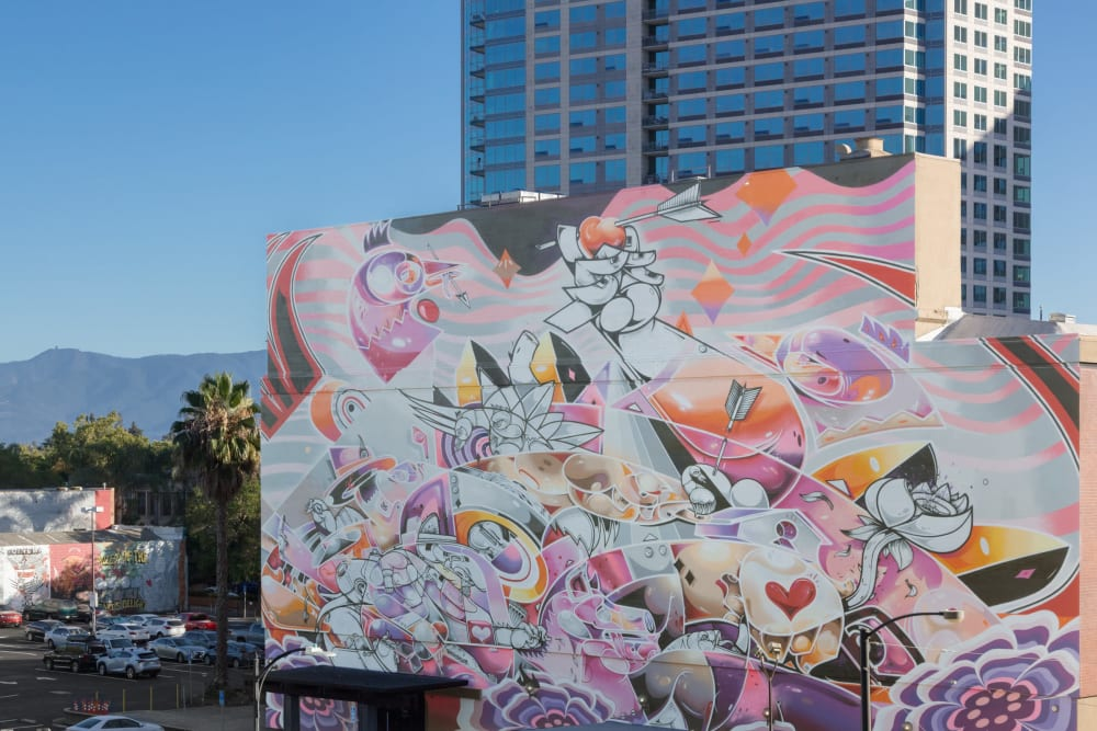 Street art in downtown San Jose near Sparq
