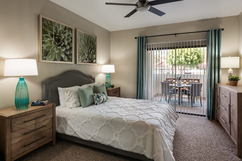 Spacious master bedroom at San Palmas in Chandler, Arizona