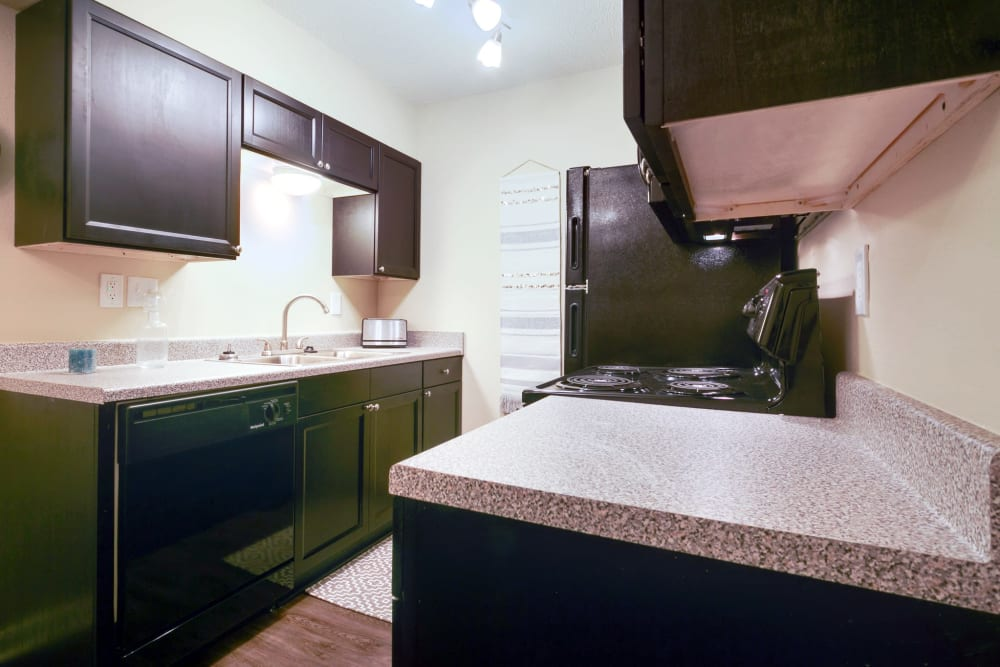 Kitchen countertops at Bowman Heights in Little Rock, Arkansas