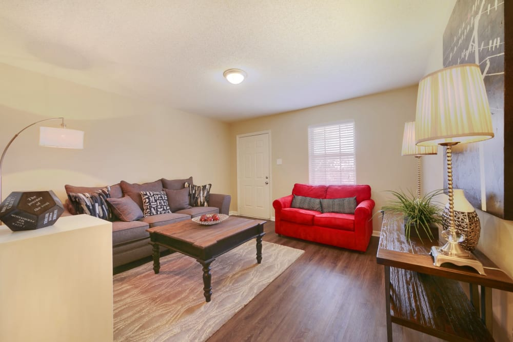 Spacious living room at Bowman Heights in Little Rock, Arkansas