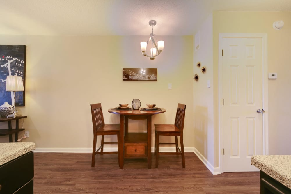 Dining room area at Bowman Heights in Little Rock, Arkansas