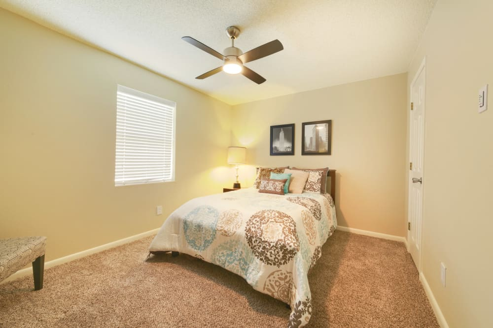 Master bedroom at Bowman Heights in Little Rock, Arkansas