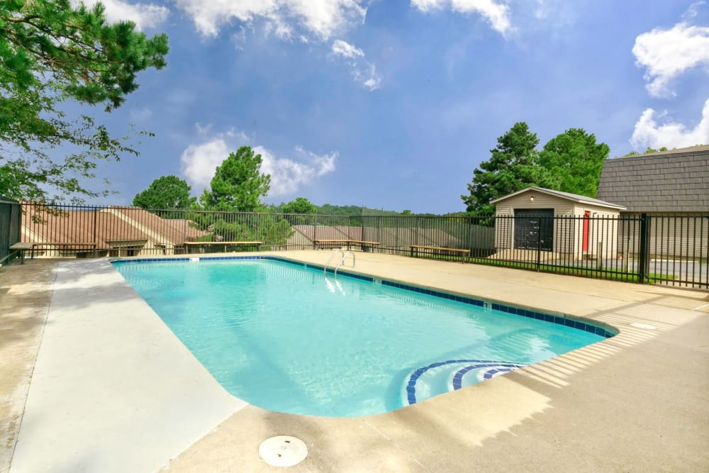 Pool area at Bowman Heights in Little Rock, Arkansas