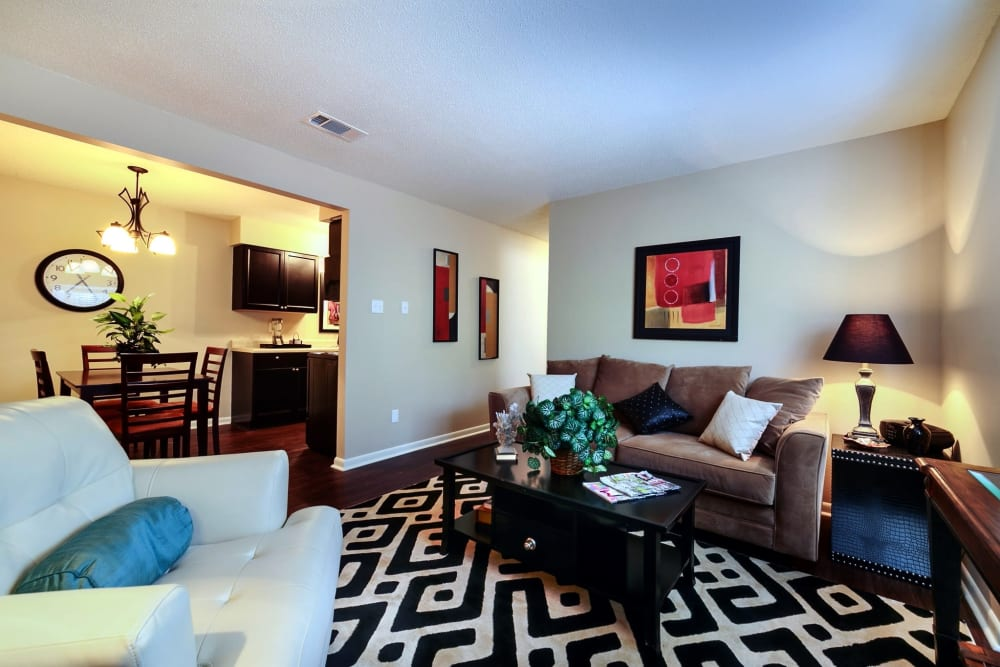 Spacious floor plans at The Waterford in Little Rock, Arkansas