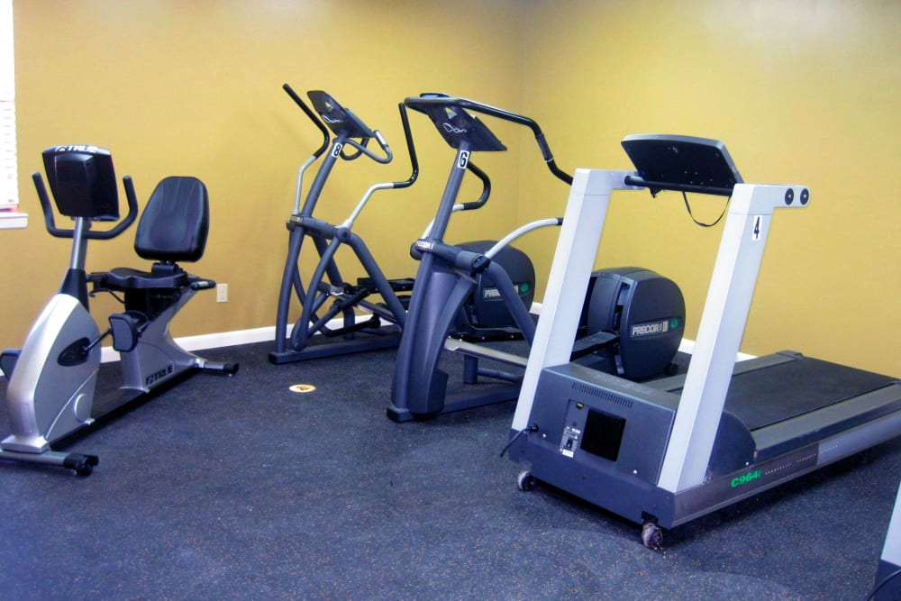 Fitness center at The Waterford in Little Rock, Arkansas