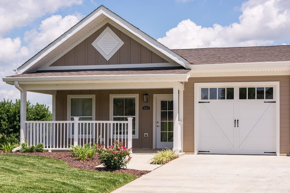 front view of two bedroom town house