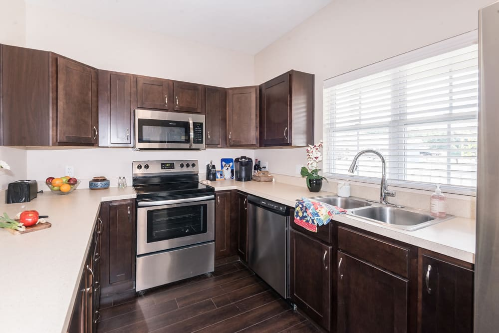 kitchen with large countertop space