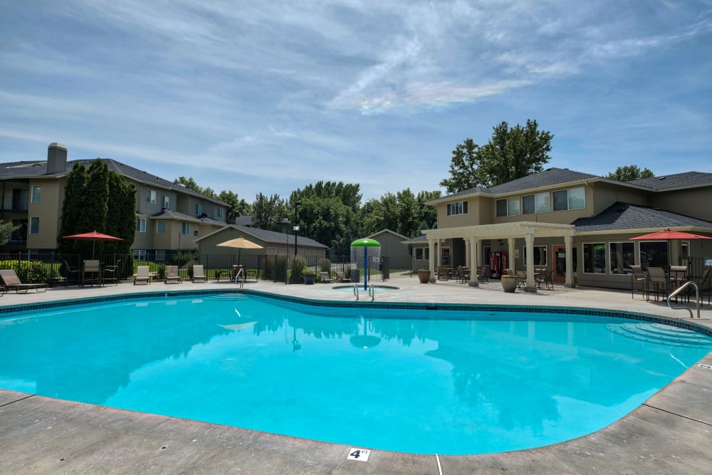 Swimming Pool at Arbor Crossing Apartments in Boise, Idaho