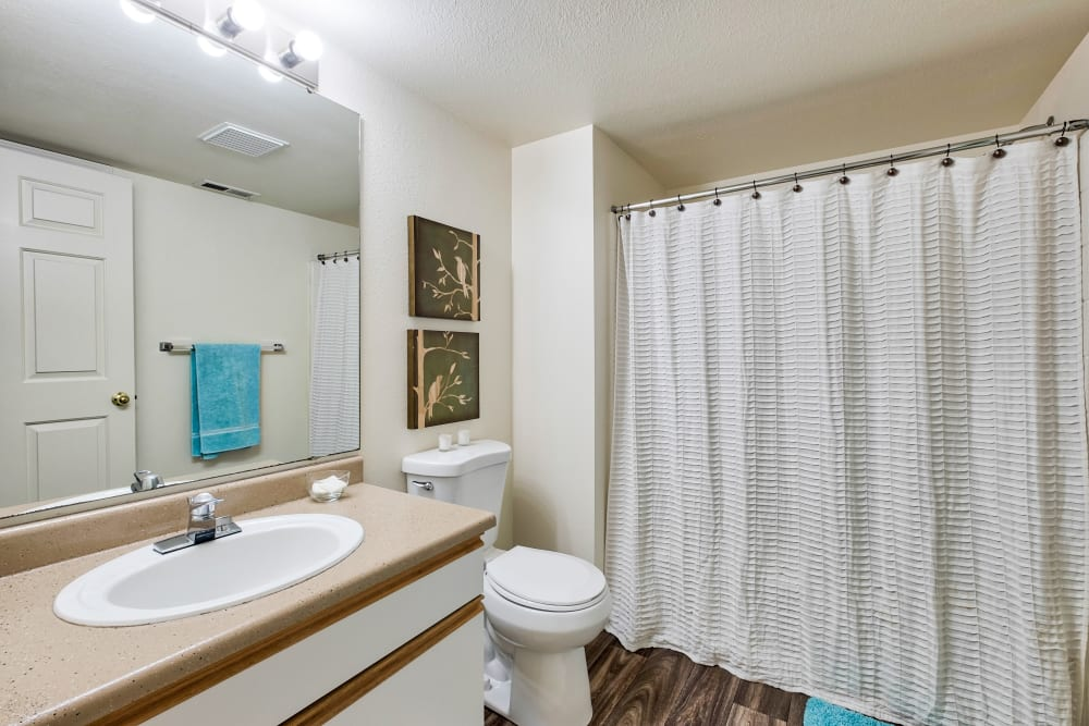 Bathroom at Arbor Crossing Apartments in Boise, Idaho