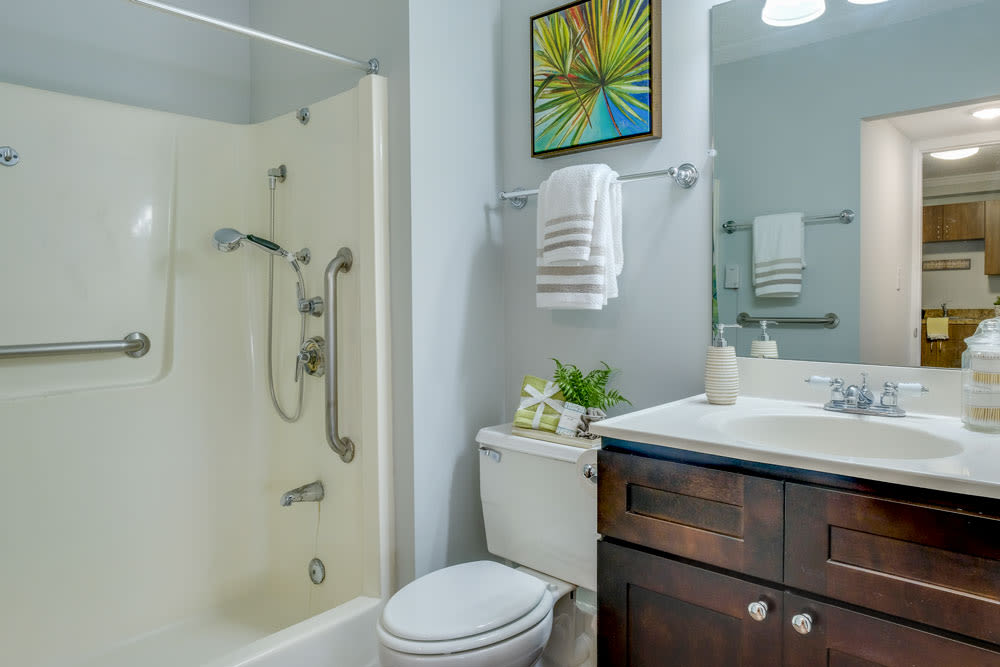 Bathroom model at Grand Villa of Clearwater in Florida
