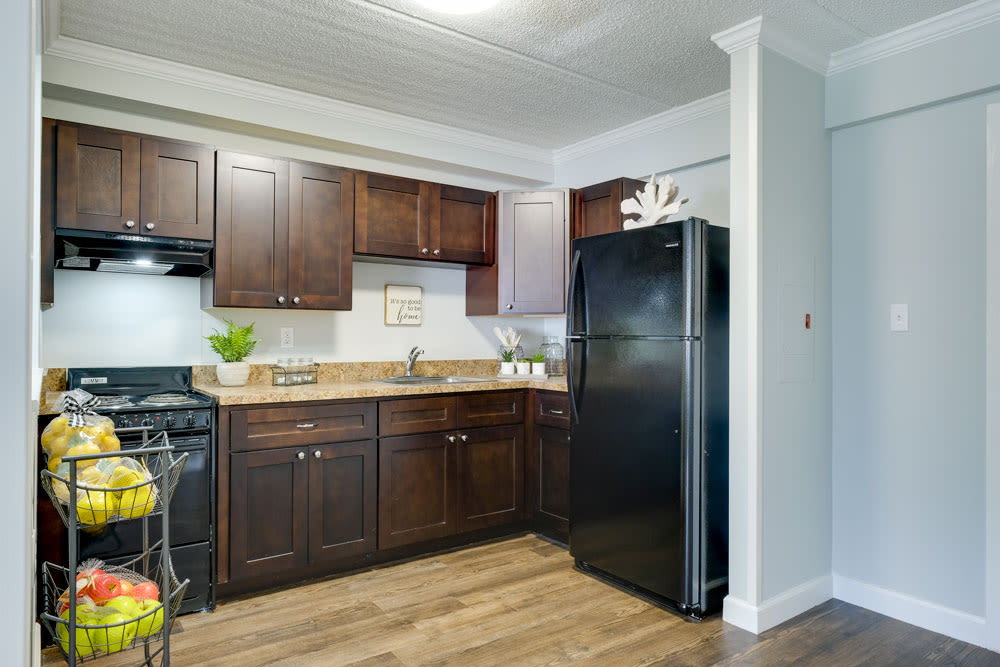 Kitchen model at Grand Villa of Clearwater in Florida