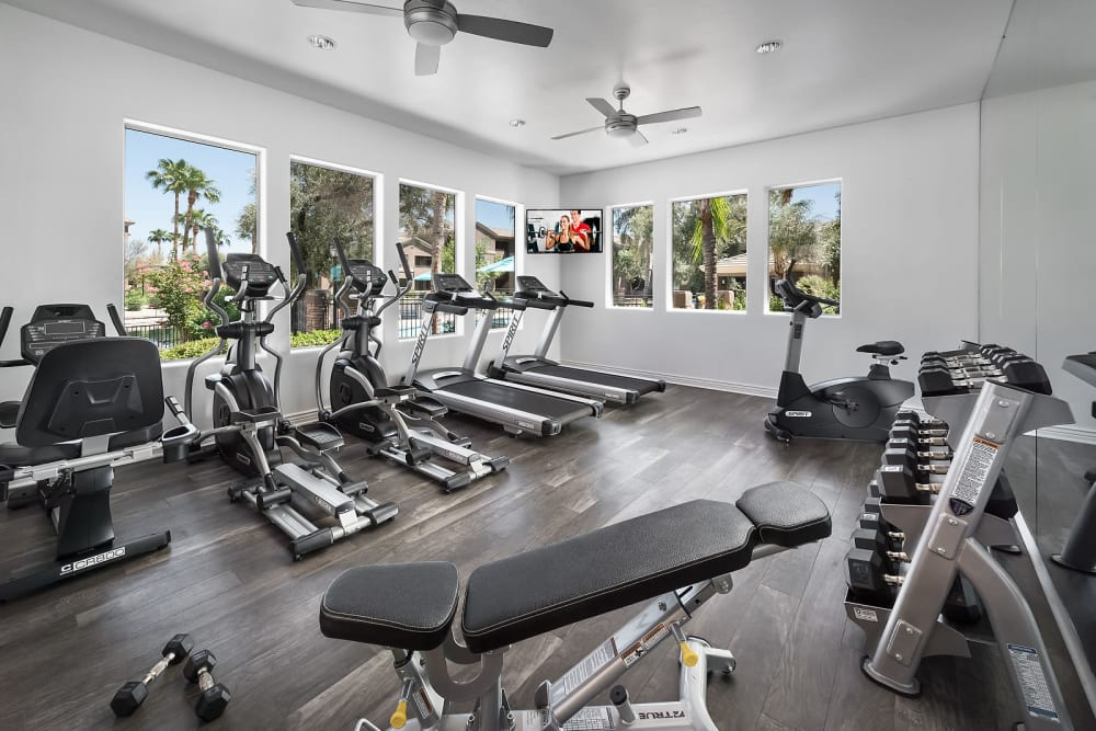 24 hour fitness center at Laguna at Arrowhead Ranch in Glendale, Arizona