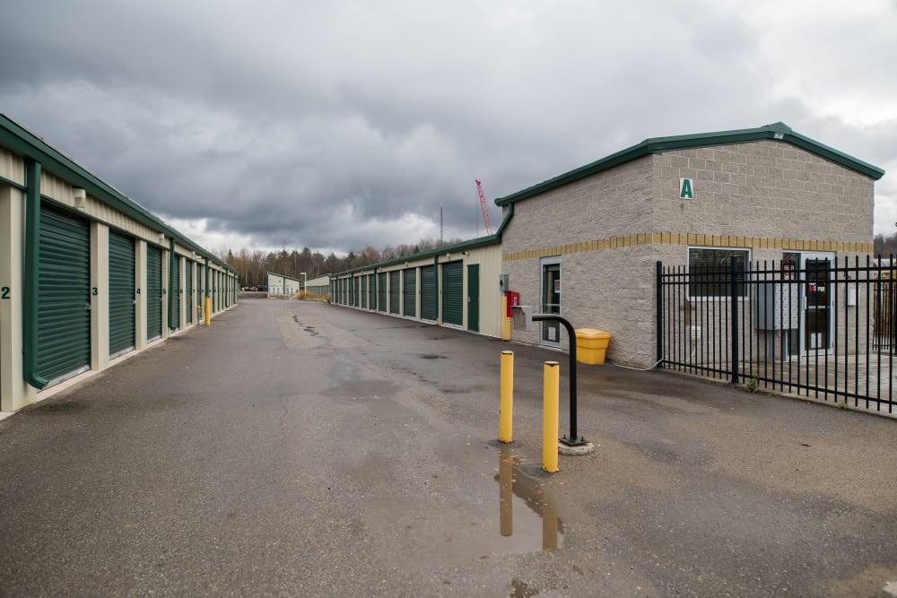 Entrance to storage units at Apple Self Storage - Aurora in Aurora, Ontario