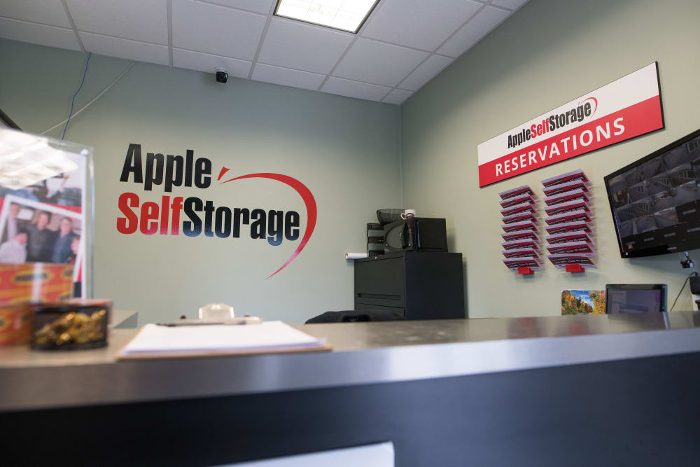 Front desk at Apple Self Storage - Aurora in Aurora, Ontario