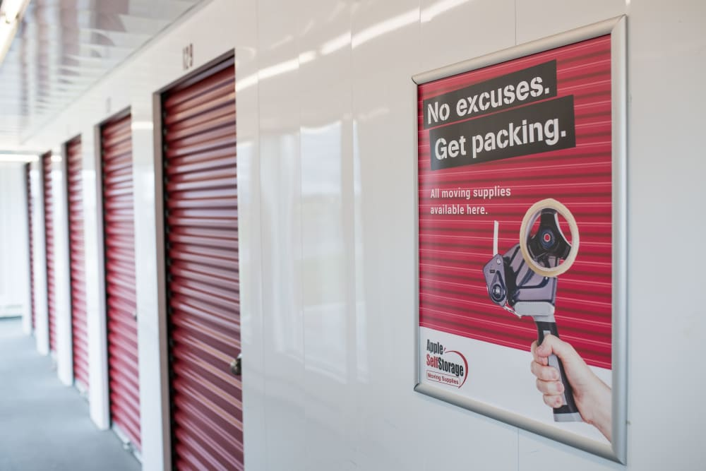 Interior storage units at Apple Self Storage - East Gwillimbury in East Gwillimbury, Ontario