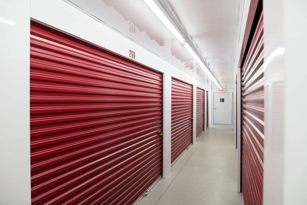 Interior storage units are available at Apple Self Storage - East Gwillimbury in East Gwillimbury, Ontario