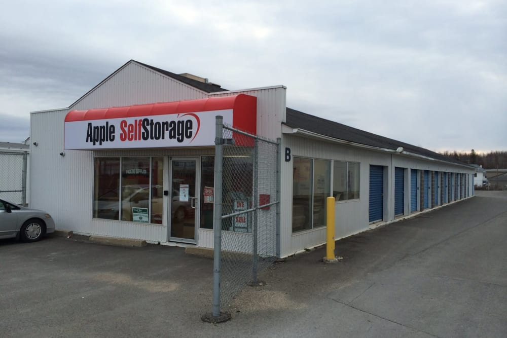 Front entrance at Apple Self Storage - Fredericton in Fredericton, New Brunswick