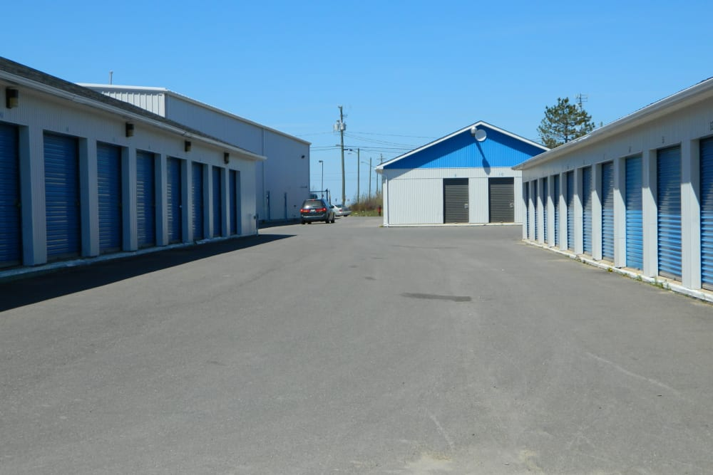 Outdoor storage units are available at Apple Self Storage - Fredericton in Fredericton, New Brunswick