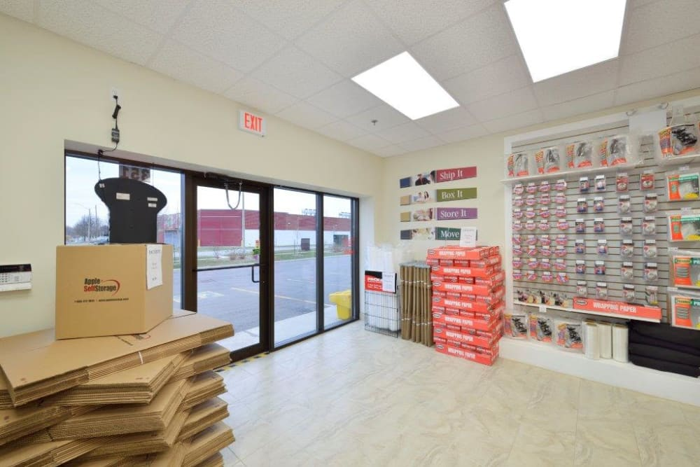 Packing and moving supplies are available at Apple Self Storage - Kingston in Kingston, Ontario