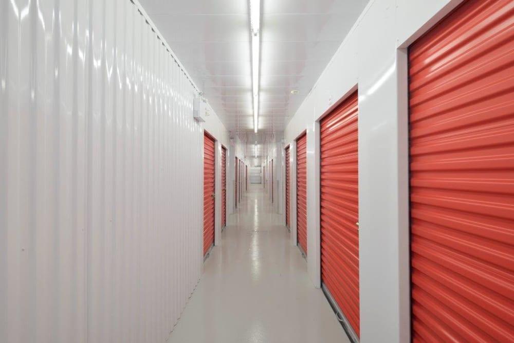 Bright hallway at Apple Self Storage - Kingston in Kingston, Ontario