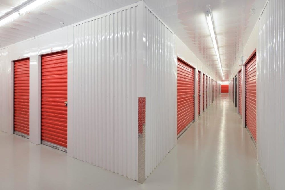 Apple Self Storage - Kingston in Kingston, Ontario, clean and well-lit facility