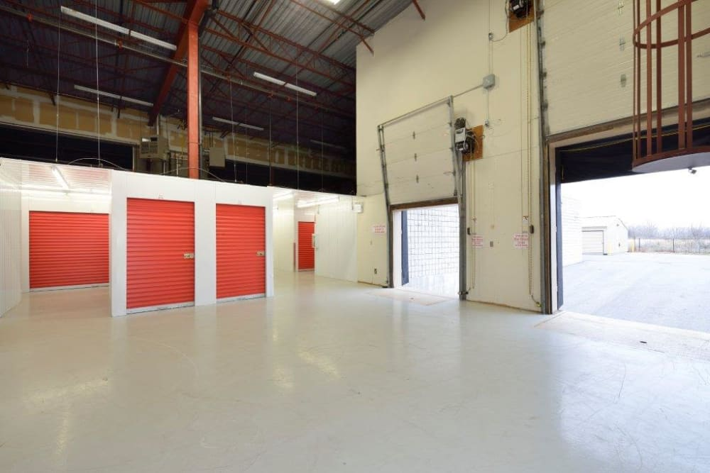Large loading doors are available at Apple Self Storage - Kingston in Kingston, Ontario