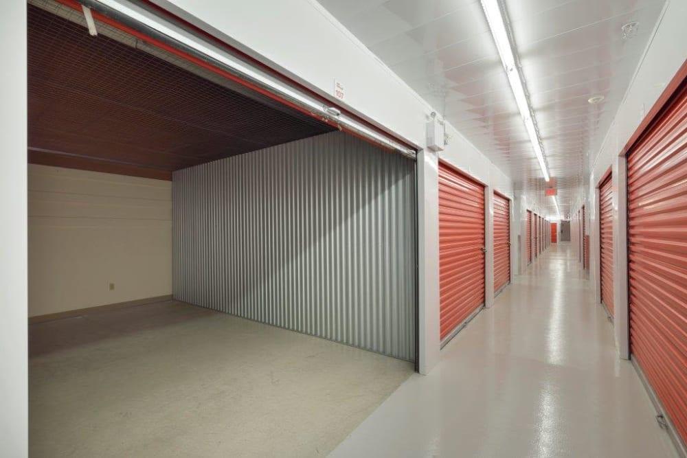Large indoor loading door at Apple Self Storage - Kingston in Kingston, Ontario