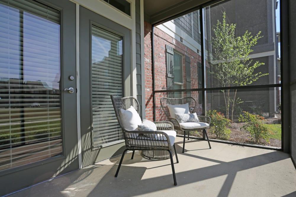 Private patio at Acadia Villas in Thibodaux, Louisiana