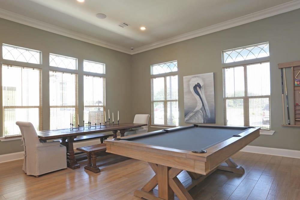 Billiards table at Acadia Villas in Thibodaux, Louisiana