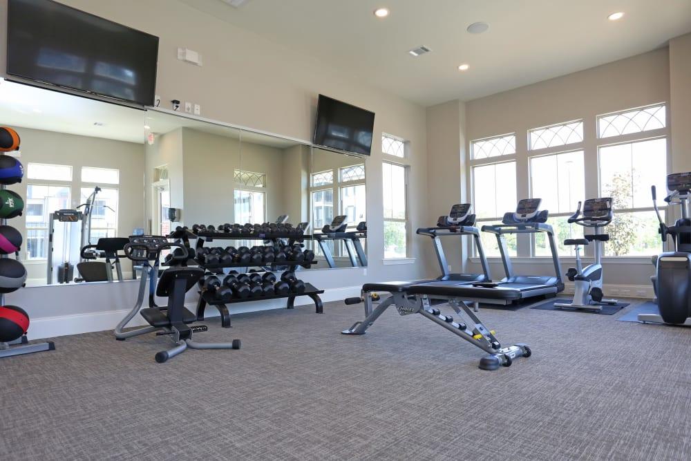 Fitness center at Acadia Villas in Thibodaux, Louisiana
