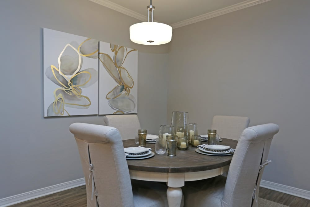 Well-lit dining area at Acadia Villas in Thibodaux, Louisiana