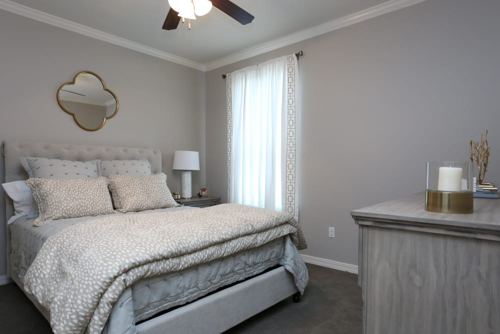 Spacious bedroom at Acadia Villas in Thibodaux, Louisiana
