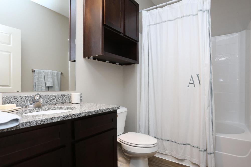 Bright, spacious bathroom at Acadia Villas in Thibodaux, Louisiana