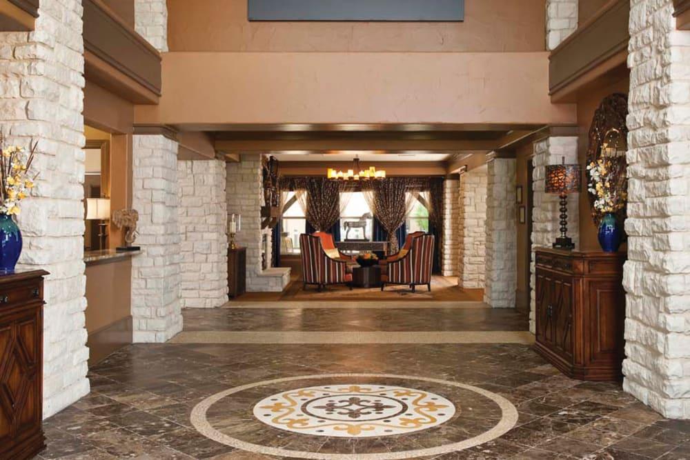 The lobby area at Isle at Cedar Ridge in Cedar Park, Texas