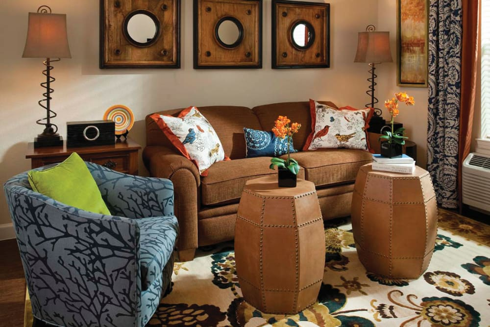 A couch, love seat, and two tables at Isle at Cedar Ridge in Cedar Park, Texas