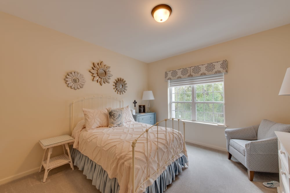 Beautiful bedroom at Harmony at Harbour View in Suffolk, Virginia