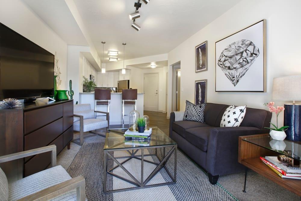 Living room at Liberty Blvd