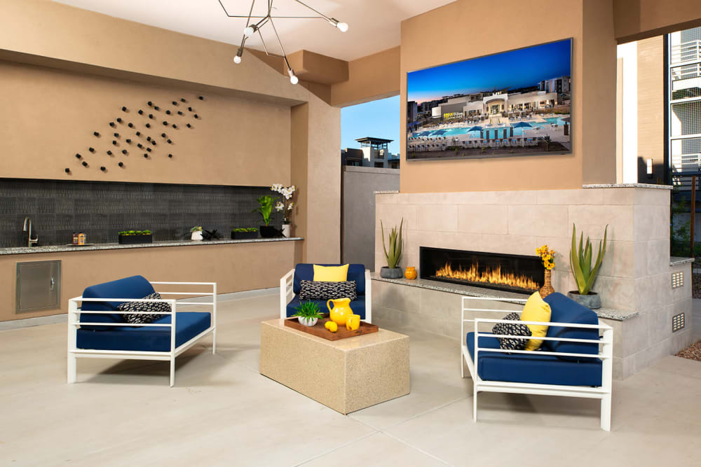 Enjoy an Outdoor Lounge at Sky at Chandler Airpark in Chandler, AZ