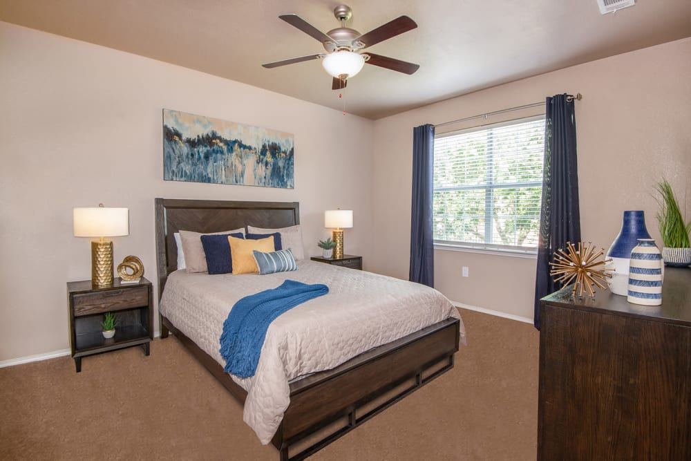 Bedroom at Ballantyne Apartments in Lewisville, Texas