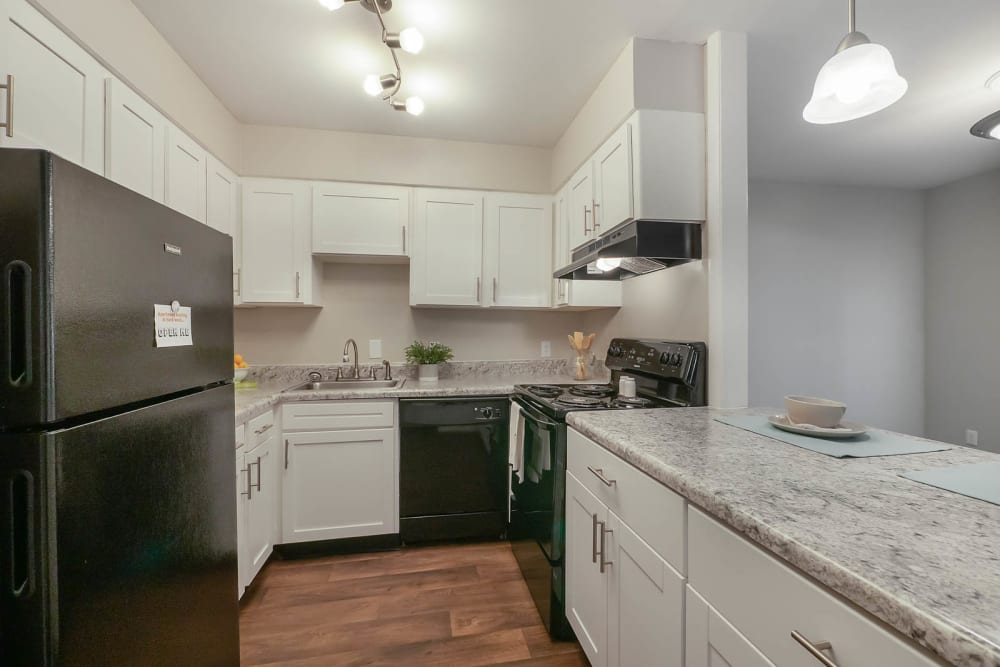 bright spacious kitchen at Riverside North in Chattanooga, TN