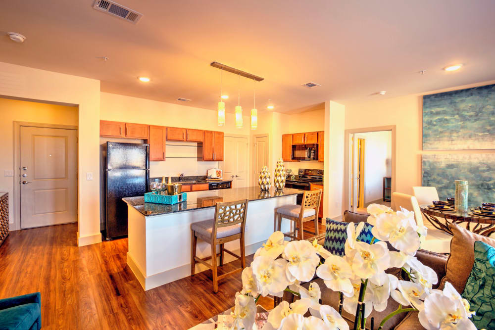 A beautiful kitchen at Watercrest at Kingwood in Kingwood, Texas